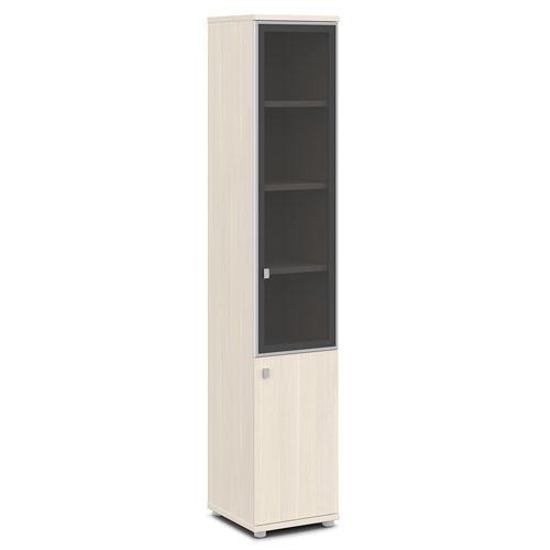 шкаф со стеклом в алюминиевом профиле v-505 дуб кобург