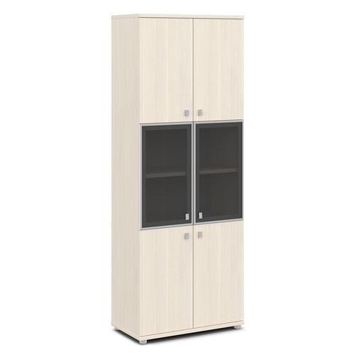 шкаф со стеклом в алюминиевом профиле v-613 дуб кобург
