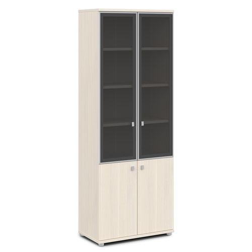 шкаф со стеклом в алюминиевом профиле V-614 дуб кобург