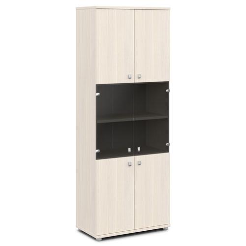 шкаф со стеклом v-633 дуб кобург