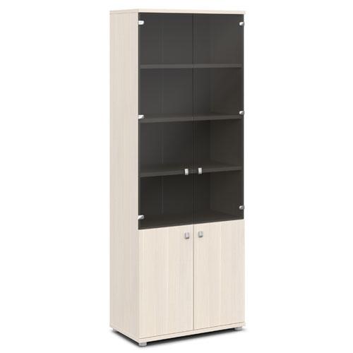 шкаф со стеклом v-634 дуб кобург