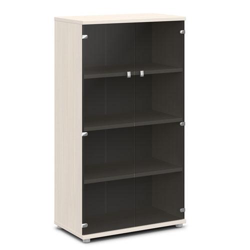 шкаф со стеклом v-667 дуб кобург