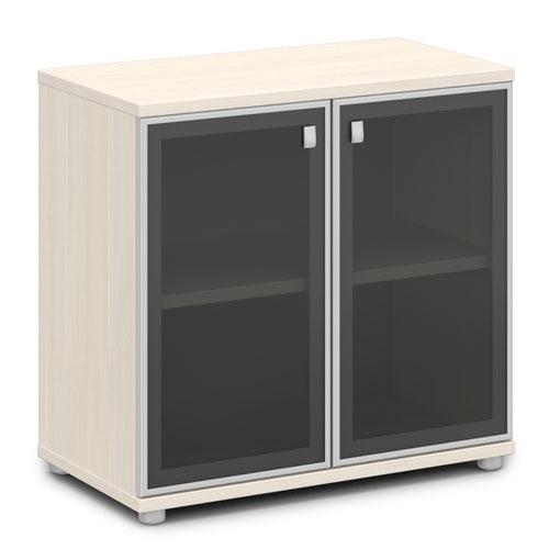 шкаф со стеклом в алюминиевом профиле V-652 дуб кобург