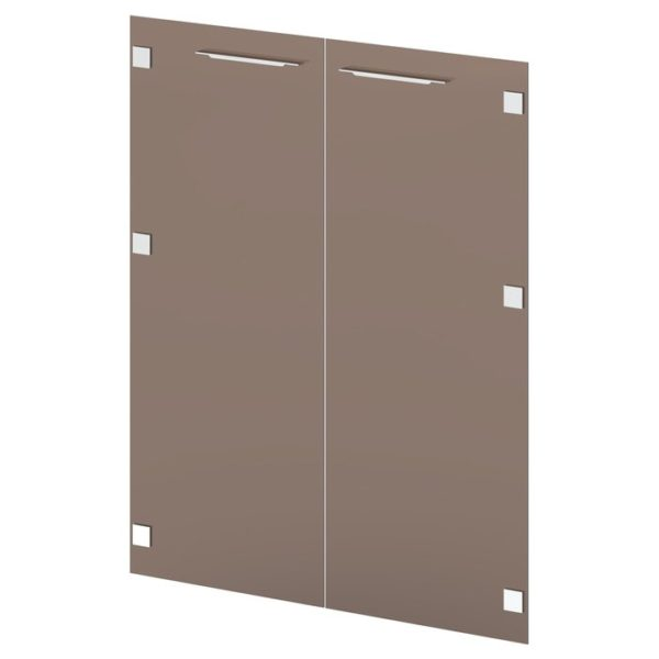 Двери стеклянные средние G-022