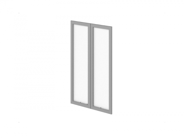Двери P-023 стеклянные в профиле МДФ
