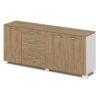 Шкаф низкий комбинированный G-70-615 дуб верцаска карамель и бежевый песок боковины