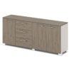 Шкаф низкий комбинированный G-70-617 дуб верцаска латте и бежевый песок боковины