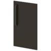 Двери низкие лаковые L-012 Горький Шоколад