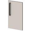 Двери низкие лаковые L-012 Серый Шелк