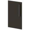 Двери низкие лаковые L-014 Горький Шоколад