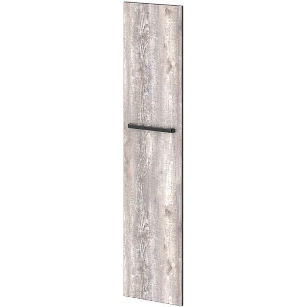 Двери высокие лаковые л/пр L-031, L-032, L-033 Дуб Линдберг Темный и Бетон Пайн