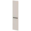 Дверь высокая лаковая L-031пр Белый Альба Маргарита и Серый Шелк