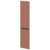 Дверь высокая лаковая L-031пр Белый Альба Маргарита и Терракот