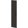 Двери высокие лаковые л/пр L-032 Дуб Линдберг Темный и Горький Шоколад