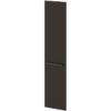 Двери высокие лаковые л/пр L-033 Дуб Линдберг Темный и Горький Шоколад