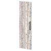 Дверь высокая лаковая L-039л Белый Альба Маргарита и Бетон Пайн