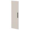 Дверь высокая лаковая L-039л Белый Альба Маргарита и Серый Шелк