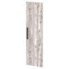 Дверь высокая лаковая L-039пр Белый Альба Маргарита и Бетон Пайн