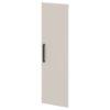 Дверь высокая лаковая L-039пр Белый Альба Маргарита и Серый Шелк