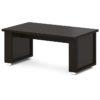 стол для переговоров L-102 Дуб Линдберг Темный и Горький Шоколад