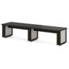 стол для переговоров L-103 Дуб Линдберг Темный и Серый Шелк