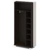 Каркас шкафа для одежды L-72 Дуб Линдберг темный и Серый Шелк
