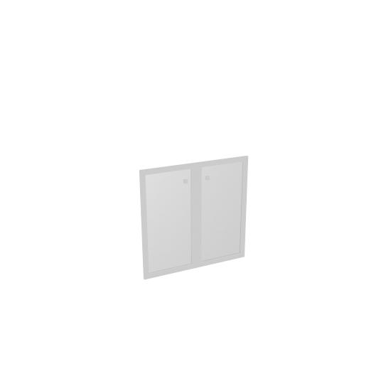 Двери S-013 стеклянные матовые в профиле МДФ