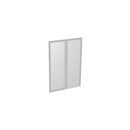 Двери S-023 стеклянные в профиле МДФ