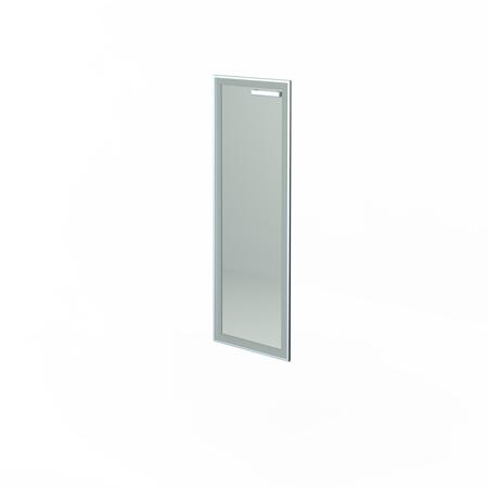 Дверь стеклянная в алюм. раме НТ-601 Л/Пр СТЛ