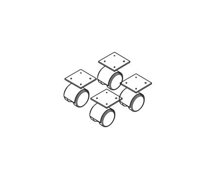 Комплект колёсных опор НТК-4