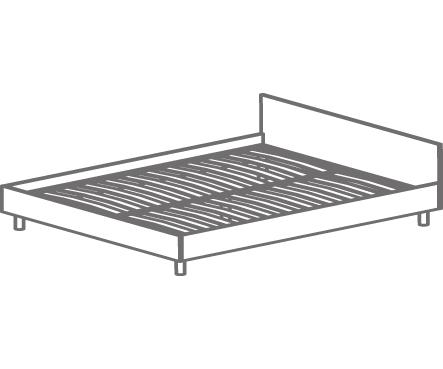 Кровать двуспальная Т-405