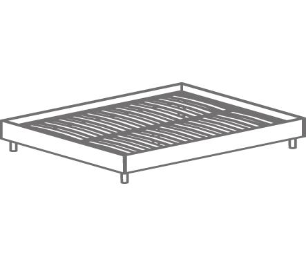 Кровать двуспальная Т- 406