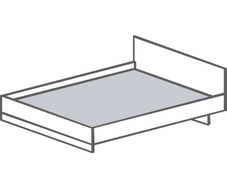 Кровать односпальная Т- 411