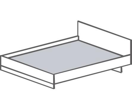 Кровать двуспальная Т- 413