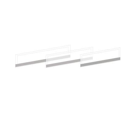 Экраны разделительные в алюминиевой раме