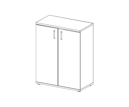 Шкаф для документов средний Н-001