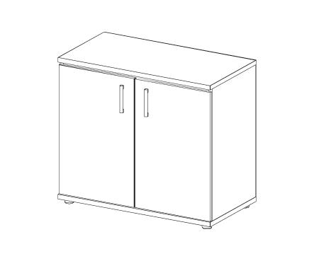 Шкаф низкий Н-041