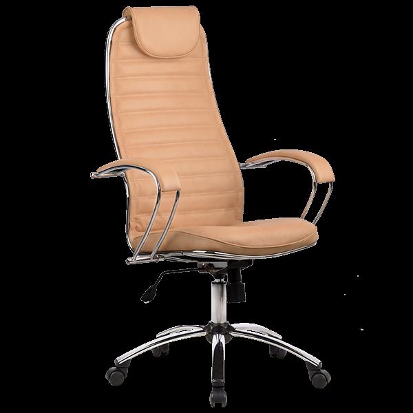 Кресло Metta BC-5 натуральная кожа перфорированная бежевый