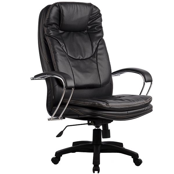 Кресло руководителя Metta LK-11 пластик перфорированная эко-кожа черный