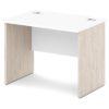 стол письменный S-10 белый и дуб верцаска светлый