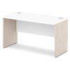 стол письменный S-14 белый и дуб верцаска светлый