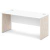 стол письменный S-16 белый и дуб верцаска светлый