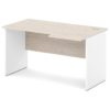 стол письменный S-44 л/пр дуб верцаска светлый / белый
