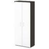 шкаф для документов S-601 белые дверки, каркас дуб честерфилд