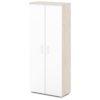 шкаф для документов S-601 белый дверки, каркас дуб верцаска светлый