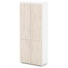 шкаф для документов S-602 дверки дуб верцаска светлый, белый каркас