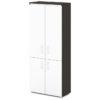шкаф для документов S-602 белые дверки, каркас дуб честерфилд