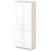 шкаф для документов S-602 белый дверки, каркас дуб верцаска светлый