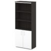 шкаф для документов S-604 белые дверки, каркас дуб честерфилд