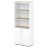 шкаф для документов S-604 белый, дуб верцаска светлый верх и низ
